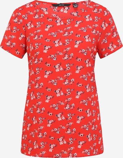 Vero Moda Tall T-shirt 'SAGA' en bleu foncé / rouge / blanc, Vue avec produit