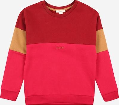 ESPRIT Sweat-shirt en mélange de couleurs / rouge sang, Vue avec produit