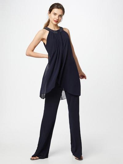 Tuta jumpsuit Vera Mont di colore blu notte, Visualizzazione modelli