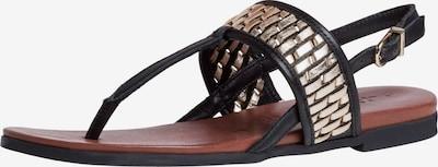 Flip-flops TAMARIS pe auriu / negru, Vizualizare produs