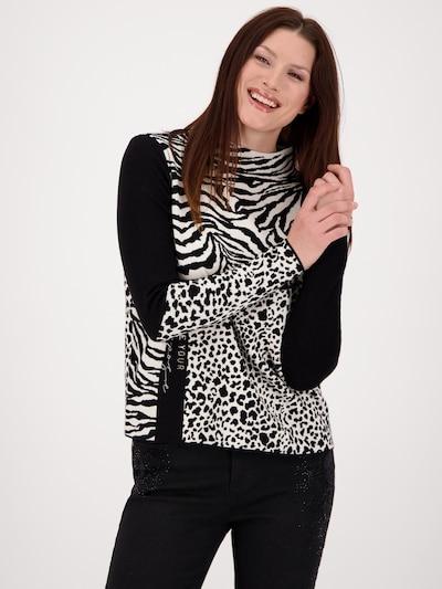 Pulover monari pe negru / alb, Vizualizare model