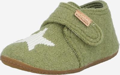 Papuci de casă Living Kitzbühel pe maro / verde măr / alb, Vizualizare produs