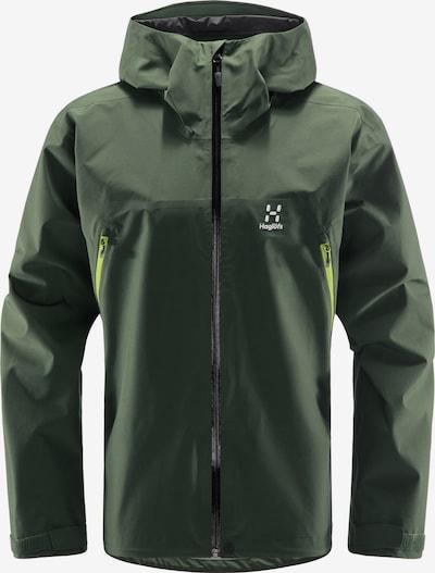 Haglöfs Sportjacke 'Roc GTX' in dunkelgrün / schwarz / weiß, Produktansicht