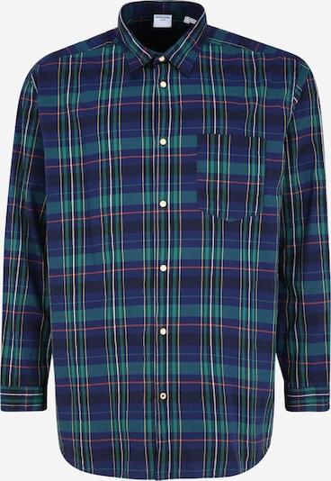 JACK & JONES Hemd in dunkelblau / grün / pink / weiß, Produktansicht