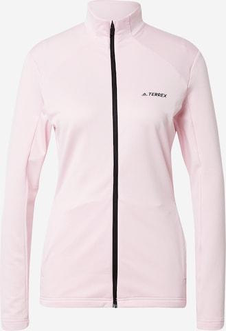 adidas Terrex Sportsweatjacke in Pink