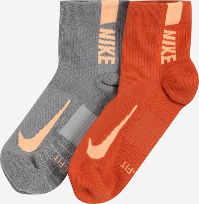 NIKE Sportsocken in grau / orange, Produktansicht