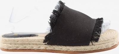 H&M Espadrilles-Sandalen in 39 in schwarz / wollweiß, Produktansicht