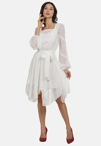 faina Kleid in weiß, Modelansicht