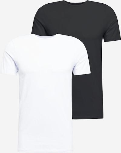 Tricou JACK & JONES pe negru / alb, Vizualizare produs