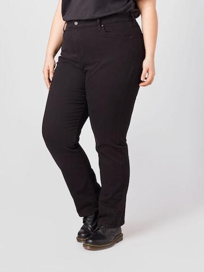 Jeans Levi's® Plus pe negru denim, Vizualizare model