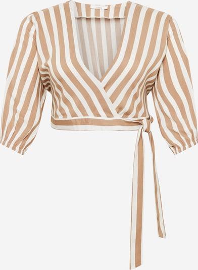 Guido Maria Kretschmer Curvy Collection Bluse 'Clara' in beige / weiß, Produktansicht