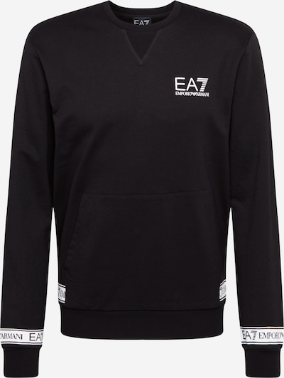 EA7 Emporio Armani Sweatshirt in black / white, Item view