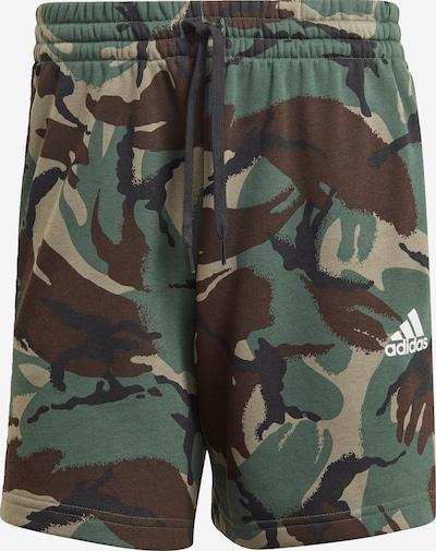 ADIDAS PERFORMANCE Shorts in ecru / braun / dunkelgrau / dunkelgrün, Produktansicht