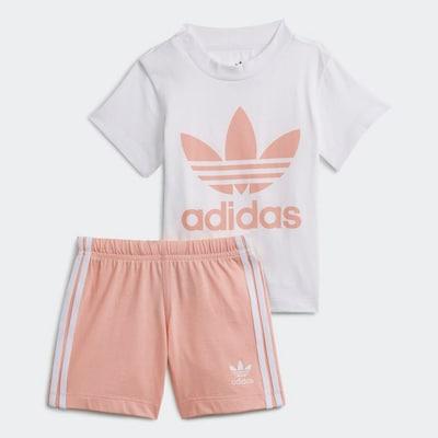 Set ADIDAS ORIGINALS pe roz / alb, Vizualizare produs
