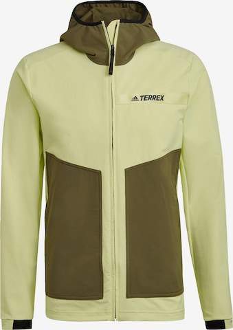 adidas Terrex Jacke in Gelb