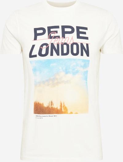 Pepe Jeans Tričko 'MANU' - světlemodrá / tmavě modrá / oranžová / světle růžová / offwhite, Produkt