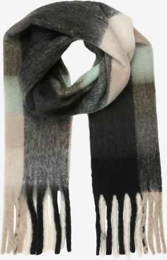 SISTERS POINT Sjal i antracit / grå-meleret / mint / uldhvid, Produktvisning