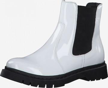 TAMARIS Chelsea Boots in Weiß