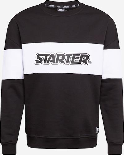 Starter Black Label Sweatshirt in schwarz / weiß, Produktansicht