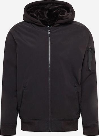 HOLLISTER Jacke in Schwarz