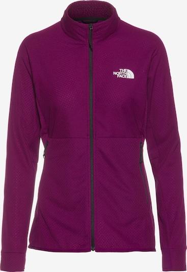 THE NORTH FACE Fleece Jacket in Dark purple / White, Item view