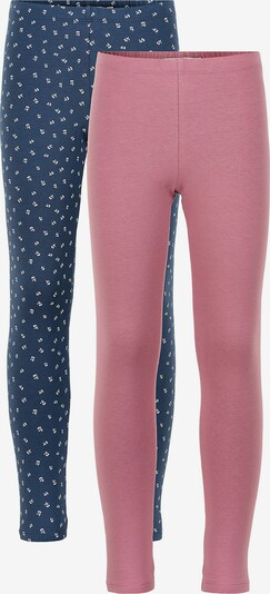 MINYMO Leggings in Dusty blue / Rose / White, Item view
