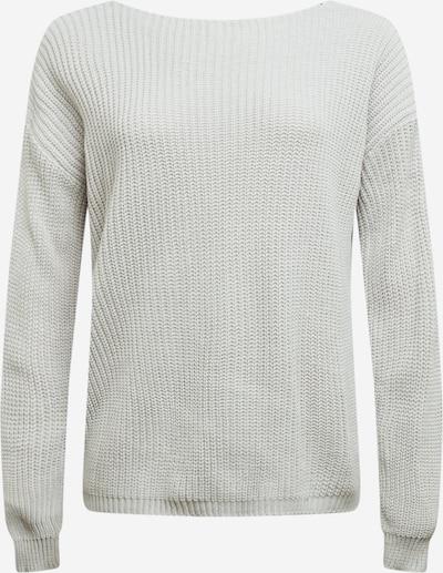 GLAMOROUS CURVE Pullover in hellgrau / schwarz, Produktansicht