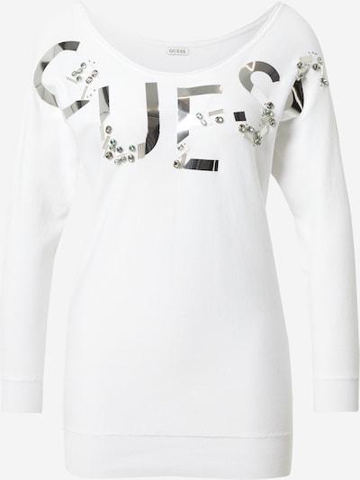 GUESS Pullover 'DORIS' in silber / weiß, Produktansicht