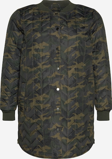 Zizzi Between-seasons coat 'MSAGE' in Grey / Dark grey / Green / Khaki, Item view