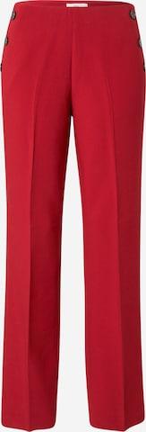 Pantalon à plis s.Oliver BLACK LABEL en rouge