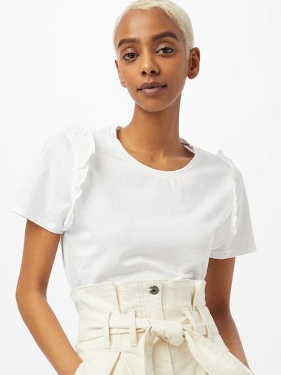 UNITED COLORS OF BENETTON Тениска в бяло: Изглед отпред