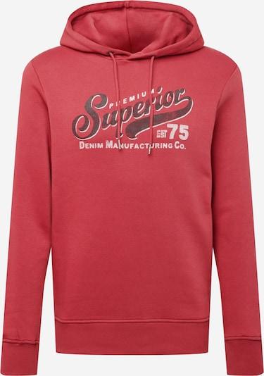 JACK & JONES Sweatshirt 'BOOSTER' in de kleur Rood / Bordeaux / Wit, Productweergave