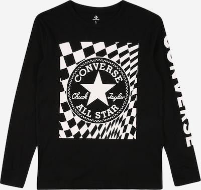 CONVERSE Shirt 'CHUCK' in schwarz / weiß, Produktansicht