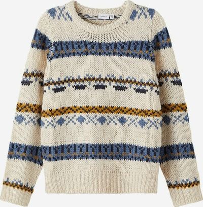 NAME IT Pullover in rauchblau / orange / wollweiß, Produktansicht