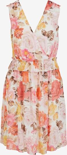 Kokteilinė suknelė 'Hibiscus' iš VILA, spalva – gelsvai pilka spalva / tamsiai ruda / karmino raudona / pastelinė raudona / natūrali balta, Prekių apžvalga