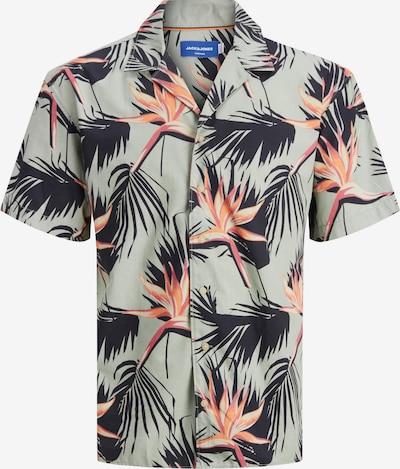 JACK & JONES Košeľa - zelená / svetlooranžová / pastelovo ružová, Produkt