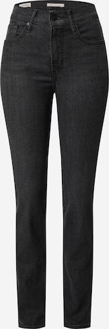 Jeans '724™ HIGH RISE STRAIGHT' de la LEVI'S pe negru