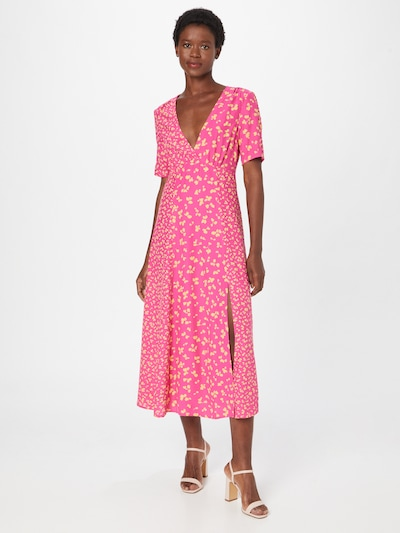 FRENCH CONNECTION Kleid in gelb / pink, Modelansicht