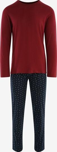 SEIDENSTICKER Pyjama ' Langarm ' in navy / bordeaux, Produktansicht