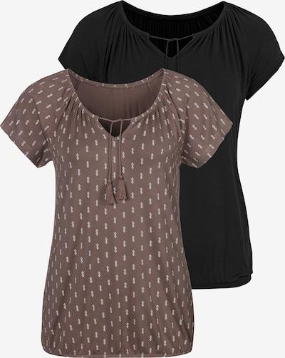 VIVANCE Shirt in de kleur Bruin / Zwart, Productweergave