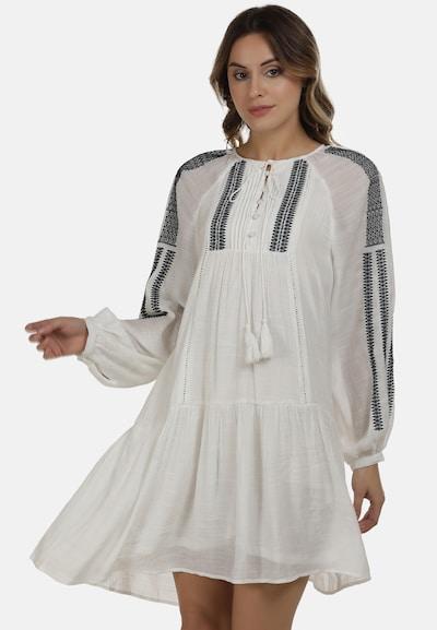 DreiMaster Vintage Kleid in marine / weiß, Modelansicht