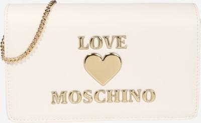 Geantă de umăr Love Moschino pe alb: Privire frontală