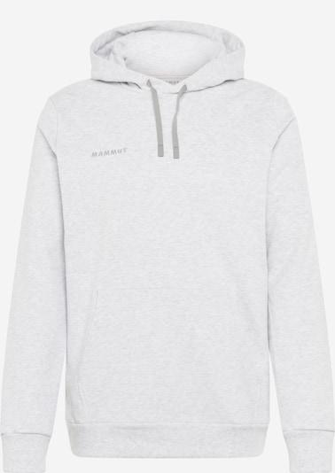 MAMMUT Sportsweatshirt in hellgrau / schwarz / weißmeliert, Produktansicht