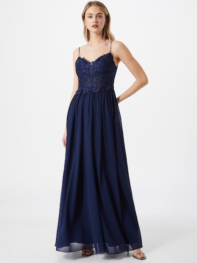 mascara Abendkleid in navy, Modelansicht