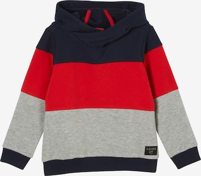 s.Oliver Sweatshirt in navy / graumeliert / rot, Produktansicht