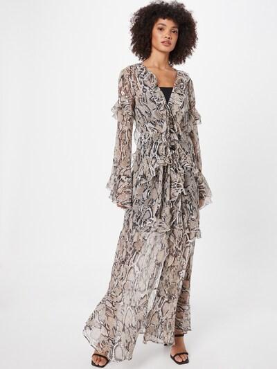 River Island Kleid in beige / hellbeige / schwarz, Modelansicht