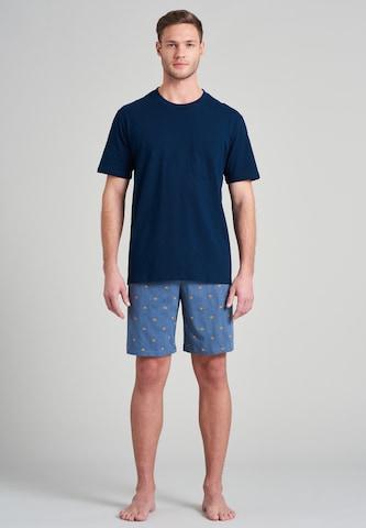 SCHIESSER Pajama short 'Fashion Nightwear' in Blue