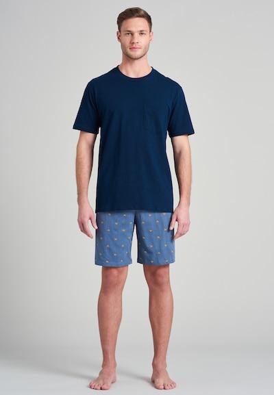 SCHIESSER Shorty Pyjama 'Fashion Nightwear' in dunkelblau, Modelansicht
