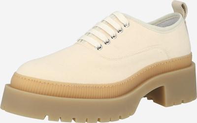 Pantofi cu șireturi Y.A.S pe bej, Vizualizare produs