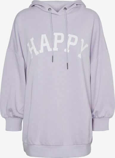 Noisy may Sweatshirt 'Bera' in pastelllila / weiß, Produktansicht